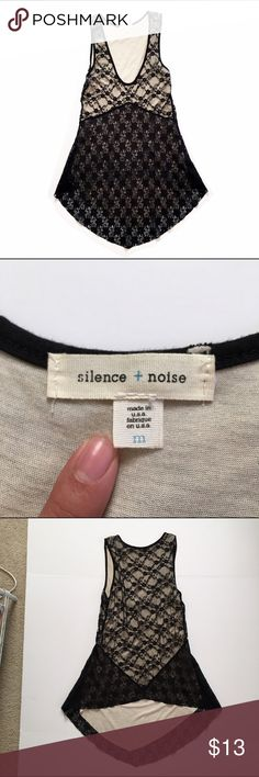 Silence & Noise top Lacey low-hi top. Like new, no sign of wear. Purchased at UO urban outfitters Urban Outfitters Tops Tank Tops