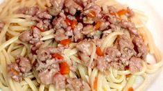 Spaghetti, Beef Dishes, Ground Beef, Pasta Recipes, Pasta Salad, Italian Recipes, Food To Make, Chicken, Cooking