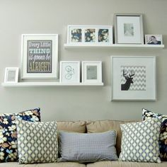 2-Ledge-Shelf-IKEA-Ribba-Picture-Photo-Display-White-Modern-Art-Shelves-NEW