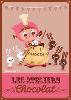 So this is how you get chocolate bunnies!Amandine Piu -www.piupiu.fr