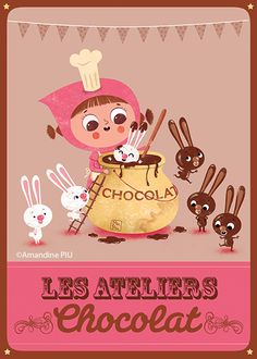 So this is how you get chocolate bunnies!Amandine Piu -www.piupiu.fr