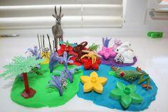 Colorful Play-doh Garden