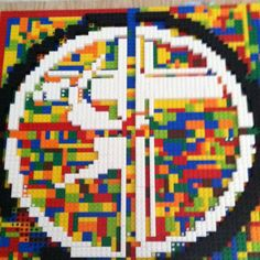 Lego mosaic of school logo! 3rd Grade Auction Project