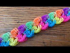 Shells In Paradise Bracelet - hook only Crazy Loom Bracelets, Rainbow Loom Bracelets Easy, Loom Band Bracelets, Rainbow Loom Bands, Diy Bracelets Easy, Lace Bracelet, Flower Bracelet, Rainbow Loom Easy, Rainbow Loom Tutorials
