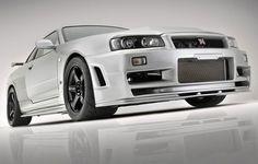 Nissan Skyline R34 GTR. already super cool even before 2 fast 2 furious :D