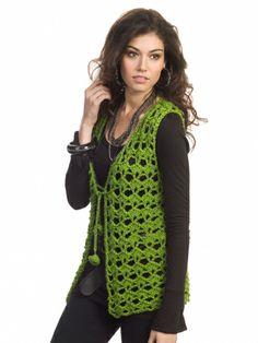 Mary Kate Vest | Yarn | Free Knitting Patterns | Crochet Patterns | Yarnspirations