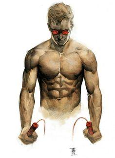 ESPN The Magazine's Body Issue - Marvel Superheroes - Daredevil Marvel Dc Comics, Marvel Art, Marvel Heroes, Captain Marvel, Comic Book Artists, Comic Book Characters, Marvel Characters, Comic Books, Comic Art