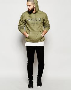 d937c309f71e nicce clothing | Nicce london Logo Hoodie in Green for Men (Khaki) | Lyst