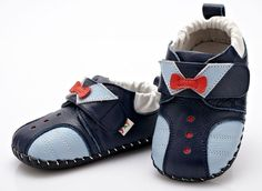 """YXY """"Tux"""" Navy Leather Soft Sole Shoes Baby - Toddler - Boys in Baby, Baby Shoes 