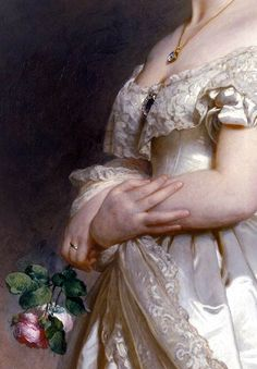 Detail of Queen Victoria by Franz Xaver Winterhalter (1842)
