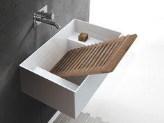 Ceramic washbasin / utility sink Collection By GALASSIA design Antonio Pascale Ada Bathroom, Small Bathroom Sinks, Undermount Bathroom Sink, Bathroom Colors, Bathroom Fixtures, Bathroom Ideas, Sink Design, Küchen Design, Design Ideas
