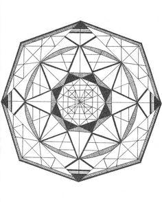 Geometric Hexagon Mandala Print.