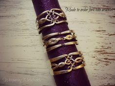 For tine bracelet made to order - you choose the design and the size - Whispering Metalworks