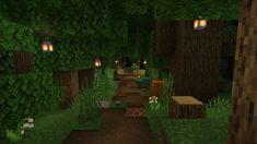 Path through the forest : Minecraft Minecraft Garden, Minecraft Cottage, Cute Minecraft Houses, Minecraft Plans, Minecraft House Designs, Minecraft Construction, Minecraft Blueprints, How To Play Minecraft, Minecraft Creations