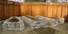 Recycling in the landscape – reused concrete to create my raised veggie Gardens! Save money on material for raised beds, save money by not hauling away all this concrete. Building A Raised Garden, Raised Garden Beds, Raised Beds, Recycled Concrete, Broken Concrete, Stained Concrete, Bungalow, Landscape Design, Garden Design