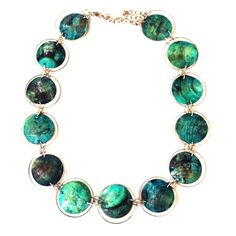 Stunning Turquoise Disc Necklace! Photographed where extender clearly visible. So light and beautiful. Jewelry Necklaces