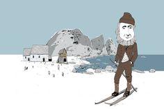 Takk @odavalle! Endeleg skikkeleg vinterstemning på Kinn!  #kinnbryggeri#kinn#florø#florøby#handverksøl#norskhåndverksøl #vigjerdetpågamlemåten#lokaløl#odavalledesign#odavalleillustration#vinter