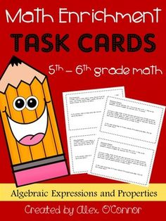 Math Enrichment Problems (Algebraic Expressions and Proper