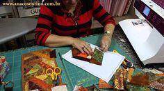 Patchwork Sem Segredos(Ana Cosentino):  Aula 22 (23/03/2015) - Montagem Carteira Crazy (Parte 01)