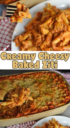 Creamy Cheesy Baked Ziti from My Fearless Kitchen. Are you looking for a baked ziti dish that's packed with cheese and still smooth and creamy? This Creamy Cheesy Baked Ziti recipe is perfect for you! Cheesy Baked Ziti Recipe, Easy Baked Ziti, Cheesy Recipes, Pasta Recipes, Dinner Recipes, Ground Beef Recipes Easy, Easy Homemade Recipes, Easy Weeknight Meals, Easy Meals