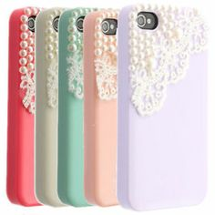 Luxury Bling Cute Pearl Lace Ice Cream Hard Back Case Cover For iPhone 4 4S 5 5S | eBay
