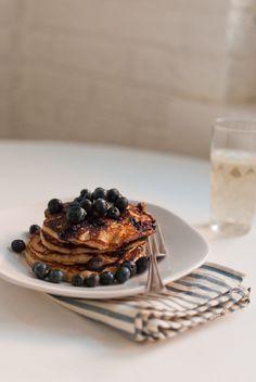 Gluten-Free Blueberry Lemon Yogurt Pancakes