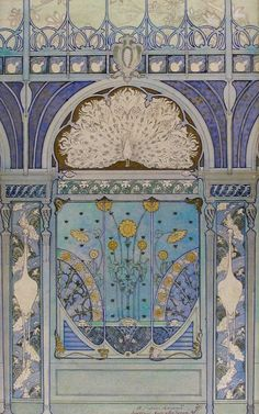 art nouveau door...beautiful