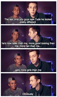 Troye and his little brother Tyde