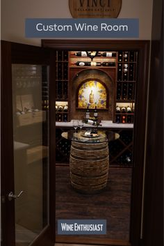 Custom wine cellar constructed with grand mahogany wood with a dark walnut stain, offering great displays and a large capacity. Wine Cellar Racks, Wine Rack, Cooling Unit, Wine Cellar Design, Wine Collection, Dark Walnut Stain, Business Signs, Wine Storage, Design Consultant