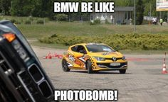 BMW Rollover Photobomb