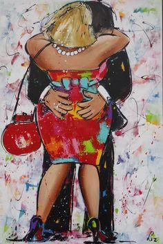 schuifelen - www.vrolijkschilderij.nl