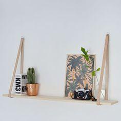 DIY easy leather strap shelf @burkatron
