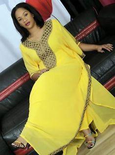 Femmes été neufs conçu Floral Caftan Robe Africaine Style Free Size