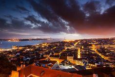 Lisbon at Sunset (by André Vicente Gonçalves) Lisboa, Lisbon By LightTravelers Team, Portugal