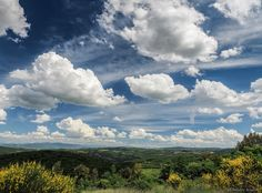 Sky and landscape. - Landscape in Umbria, under a beautiful sky.