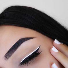 NYE Beauty Essentials Thatll Keep Your Look on Lock Past Midnight White Eyeliner Makeup Beauty Essentials Lock Midnight NYE thatll Makeup Goals, Makeup Inspo, Makeup Inspiration, Makeup Ideas, Makeup Style, Makeup Tutorials, Makeup Pics, Prom Makeup, Makeup Guide