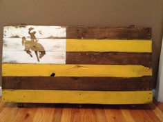 Wyoming Wooden Flag