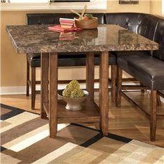 Signature Design by Ashley Lacey Square Counter Height Table - D328-33