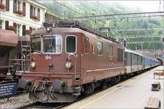 BLS Re 4/4 184 Krattigen Swiss Railways, Locomotive, Airplanes, Ships, Trucks, Cars, Vintage, Railings, Iron