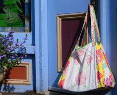Artesanato, Criatividade e Afins: Bolsa para compras em tecido, PAP