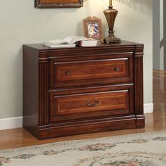 Parker House Wellington Library 2 Drawer Lateral File Cabinet | from hayneedle.com