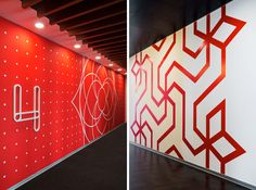 All The Wall Graphics In This Office Were Inspired By Indian Folk Art