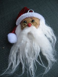 Champagne / Wine Cork Santa by PineywoodsPickle on Etsy, $7.50