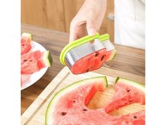 2017 New Creative Watermelon Slicer Stainless Steel Popsicle Ice Cream Model Melon Cutter Kids DIY Fruit Tools Kitchen Gadgets Watermelon Cutter, Watermelon Slicer, Cute Watermelon, Watermelon Popsicles, Eating Watermelon, Popsicle Molds, Kitchen Tools And Gadgets, Kitchen Supplies, Cookies Et Biscuits