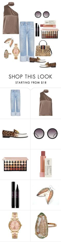 """""""Untitled #772"""" by mamatoodie-1 ❤ liked on Polyvore featuring Citizens of Humanity, Michelle Mason, Christian Louboutin, Alice + Olivia, Kiehl's, Lancôme, MICHAEL Michael Kors, Suzanne Kalan and Gucci"""