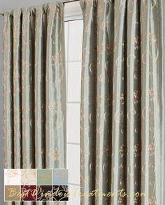 Penrose Faux Silk Curtain Drapery Panels