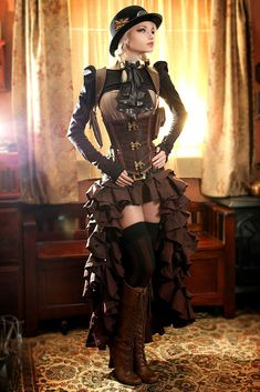 Steamgirl Kato in Victorian Indoor Setting