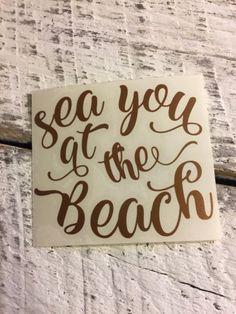 Sea Beach Ocean Vinyl Decal for Stainless Tumblers, Coffee Travel Cups, Mugs Vinyl Crafts, Resin Crafts, Vinyl Projects, Window Decals, Vinyl Decals, Custom Decals, Car Decals, Beach Cups, Funny Coffee Mugs