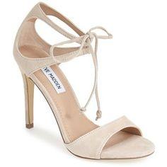 "Steve Madden 'Semona' Suede Ankle Strap Sandal, 4"" heel"