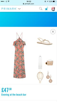 My 3rd #Primark outfit. If you're on holiday and going to a bar by the beach, this is  the look I'd go for. Long summer dress teamed up with a light cardigan and jewelled sandals.  #fashioninspo #fashiongram #fashionblogger #fashioninspiration #fashion #ladiesoutfits #ladiesoutfit #primark #primarkwomen #primarkoutfit #primarksummer #primarkladies #primarkclothes #iloveprimark #ilovefashion #perfectsummerclothes #primarni #primarnia #fashionideas #primarksummer #summertime #summer